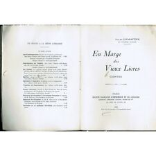 En MARGE des VIEUX LIVRES Jules LEMAÎTRE de L'Odyssée à Bonaparte 1905-07 T1  T2