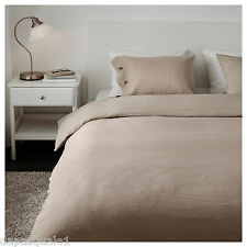 IKEA LINBLOMMA - Duvet Cover and 2 Pillowcases King Size Natural Linen