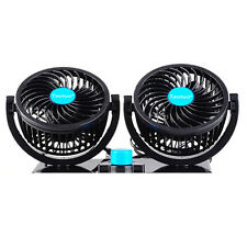 Taotuo Mini DC 12V Powerful In-Car Air Fan All-round Oscillating Quiet Cooler