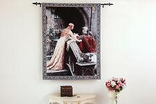 Arte Tapiz MEDIEVAL EDMUND BLAIR LEIGHTON DESPEDIDA Algodon 100% 98 x 140 cm