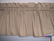 Solid Khaki Rod Pocket  Window Valance 52 x 16    100% Cotton  Handmade