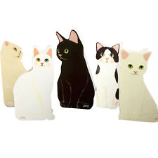 1x Lovely Standing Cat Greeting Card DIY Birthday Valentine Funny Gift Decor Set