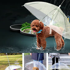 Transparent Pet Dog Puppy Cat Umbrella Outdoor Raining Snowing Travel Strolling