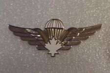 CANADA PARACHUTE BADGE,WHITE.SILVER,CURRENT MADE FOR U.S. QUALIFIED RECIPIENTS