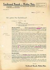 Wutha/thür., Lettera 1940, cosmetici U. farmaceutici articolo F. Rausch