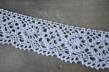 Vintage Style Wide White Lace Crochet Ribbon Wedding Sewing Dress Bridal Craft