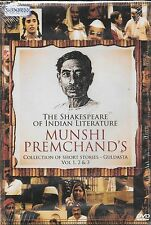 THE SHAKESPEARE OF INDIAN LITERATURE MUNSHI PREM CHAND'S VOL 1 / 2 & 3 3DVD SET