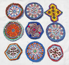 Kuchi Afghan Tribal Beaded Dress Medallions Wholesale Lot 9X (Large + X-Large)