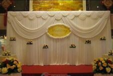 wedding event stage decoration backdrop party drapes double swag ice silk fabric