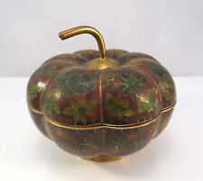 Chinese Cloisonne Pumpkin Gourd Container Box Enamel Metal China