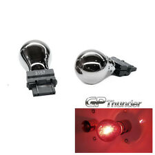 GP-Thunder 3157 3057 4157 Chrome Silver T25 Light Bulbs Red 2pcs