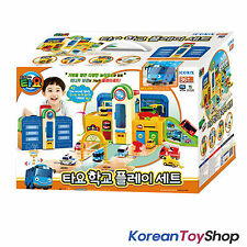 Tayo The Little Bus School Play Set Garage Toy w/ Mini Tayo Korean Animation