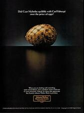 1984 JOHNNIE WALKER  Scotch Whisky : Carl Fabergé Egg   Magazine Print AD
