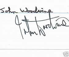 John Woodvine Actor An American Werewolf in London Hand Signed index Card 5 x 3