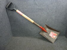 NOS! TRUE TEMPER TRANSFER SCOOP SHOVEL,  HARDWOOD HANDLE POLY D-GRIP, MADE USA