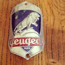 Vintage 1947-50 peugeot bicycle head badge pour costume randonneur porteur/mixte