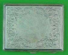 Antique Imperial or Soviet Russian Russia Sterling Silver Cigarette Case