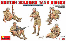 MiniArt 1/35 35071 WWII British Soldiers Tank Riders (5 Figures in Box)