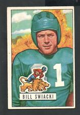 1951 Bowman Football Card #132 Bill Swiacki-Detroit Lions