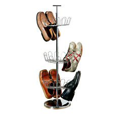 Revolving Shoe Stand Up To 18 Pairs For home Office Shoe Storage Solutions New