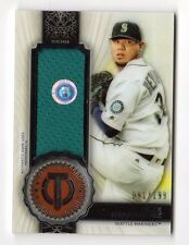 FELIX HERNANDEZ MLB 2017 TOPPS TRIBUTE STAMP OF APPROVAL RELICS #/ 199 (MARINERS