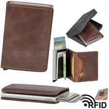 Kartenetui SECRID Cardprotector RFID Slimwallet Minibörse Leder braun VINTAGE