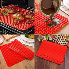 Kitchen Pyramid Pan Silicone Baking Mat Pad for Healthy Cooking Non Stick Bake