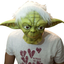 The Mask Biz Star Wars Yoda Mask Latex Animal Prank Party Costume Master Green