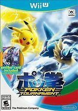Pokkén Tournament (Nintendo Wii U)...Complete with Case,Disc, and Mewtwo Card