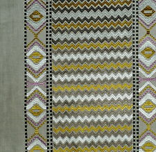 GASTON Y DANIELA Cazorla Chevron Stripe Grey Gold Bilbao New Remnant