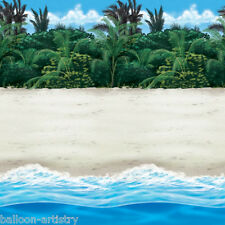 Tropical Hawaiian Paradise Scene Setter Room Roll SANDY BEACH Party Decoration