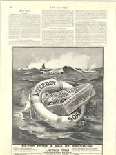 1899 Lifebuoy Saves From A Sea Troubles