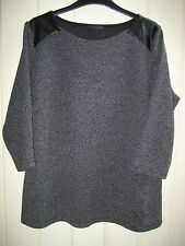 M&S Collection Indigo Mix Top Size 18