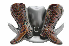 Western Cowboy Hat and Boots BELT BUCKLE Texas Cowboy Gift cowgirl