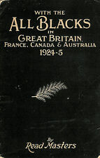 "All Blacks in Britain France Canada Australia 1924-25"" Read Masters RUGBY BOOK"