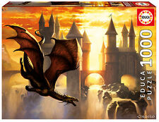 Puzzle Educa 17312 Sunset Dragon, 1000 piezas, Fantasia, Castillo, Ocaso, teile