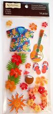 Hawaii Shirt Hibiscus Tropical Drink Guitar Flipflop Lay Sun RC 3D Stickers