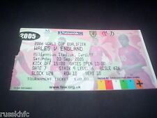 2005 WALES V ENGLAND TICKET WORLD CUP QUALIFIER