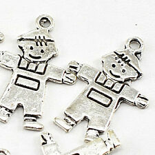 24x16mm Silver Pewter Boy charms Finding 12pcs(CP19)a ~ Lead-Free ~