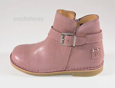Petasil Viana Girls Pink Leather Zip Boots UK 12.5 EU 31 US 13
