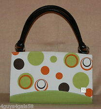 Miche Classic Purse SHELL ONLY Fits Classic Bag JOIE Green Brown Red Circles