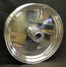 """Ultima Polished Billet Solid 18"""" x 3.5"""" Rear Wheel for 1986-1999 Harley Models"""