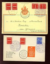 HOLLAND 1950 MYLPAAL EXHIBITION CARD + LABEL on PC...2 ITEMS