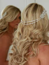 CALIFORNIA HAIR WRAP, Vintage Wedding Crystal Tiara, Bridal Headpiece, Hairpiece