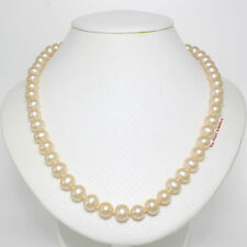 NATURAL PEACH CULTURED PEARL KNOT BETWEEN PEARL WITH SILVER 925 CLASPS NECKLACE