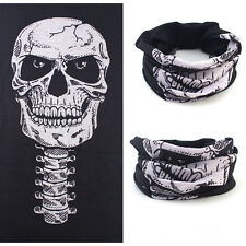 Full Skull Face Mask Ski Motorcycle Biker Scarf Snood Neck Bandana Bike Black
