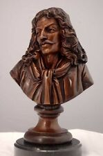 Sir Walter Raleigh Bronze Bust Lost Wax Marble Base