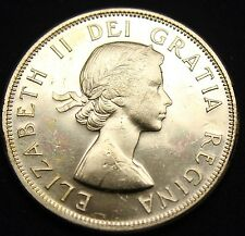 1957 CANADIAN 50 CENT, HALF DOLLAR, BU SILVER COIN, Sku#9-335