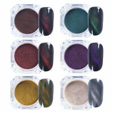 3D Nail Art Decoration Nail UV Gel Dust Cat Eye Magnetic Powder Glitter 6 colors