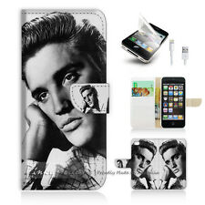 iPhone 5 5S Print Flip Wallet Case Cover! Elvis Presley Old Photo P0026